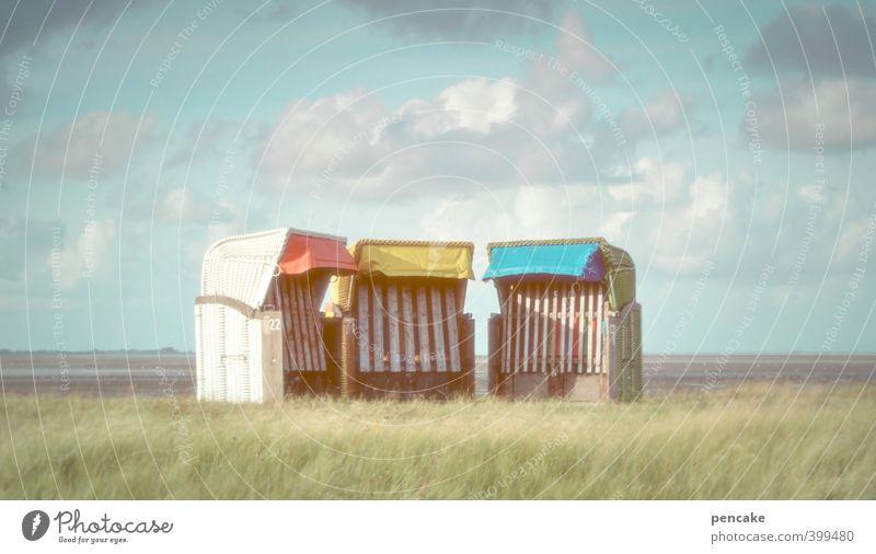tuschelgruppe Stil Sommerurlaub Meer Insel Schwimmen & Baden Skulptur Natur Landschaft Küste Nordsee Zeichen Kommunizieren leuchten Blick sitzen elegant frech