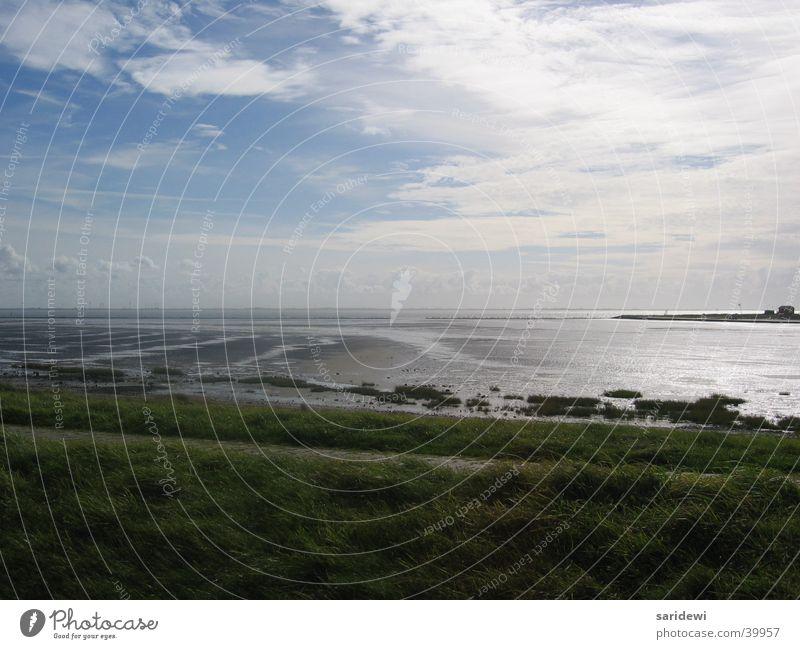 Norderney Wasser Himmel Meer Wolken Küste Nordsee