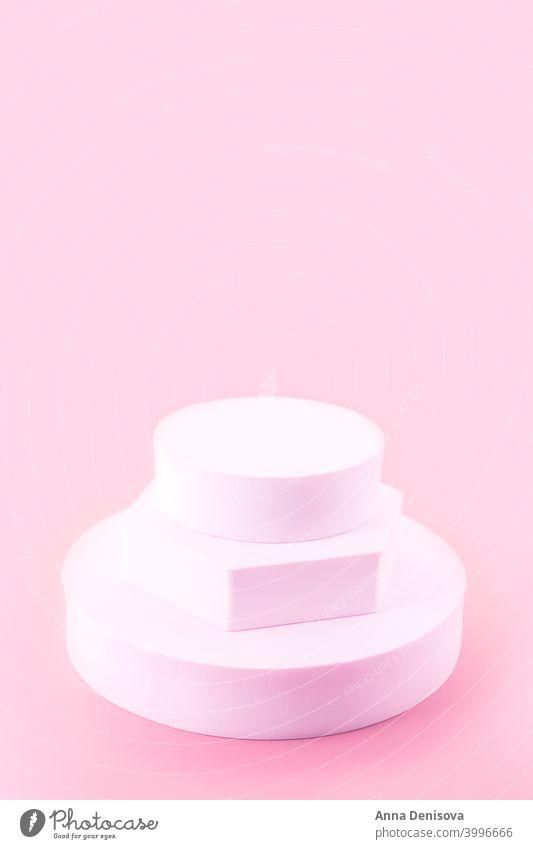 Solider Anzeigeblock Blöcke solide Schaufenster leeres Podium Sockel-Anzeige geometrische Form Regal Produkt-Mockup geometrischer Ständer für Kosmetika