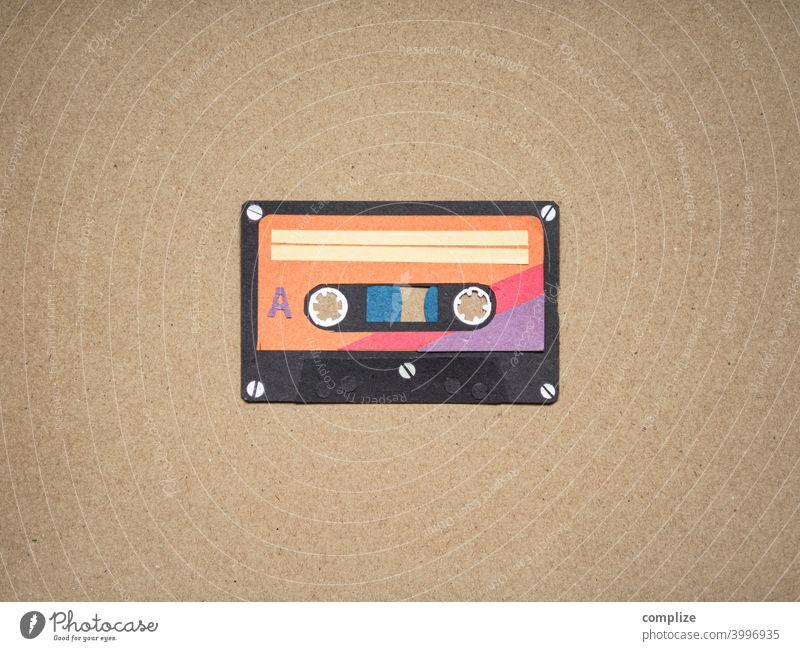 Musik Tape Kassette Vintage 70er achziger Club cassette taperecorder magnetband retro Neunziger Jahre Musikkassette Tonband Tonträger Konzert Popmusik orginale