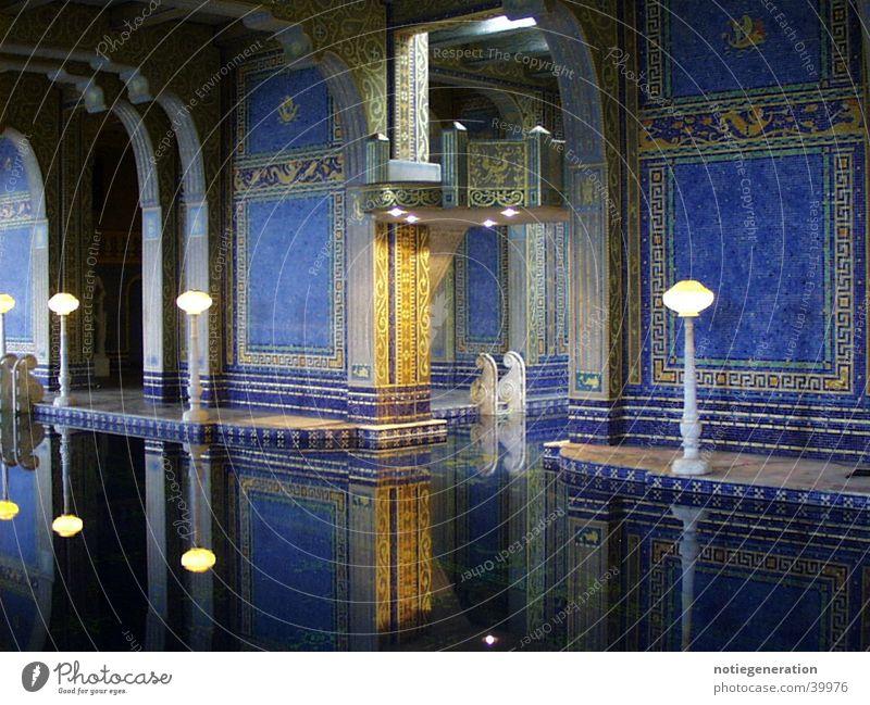 Roman pool Architektur Schwimmbad Romanik