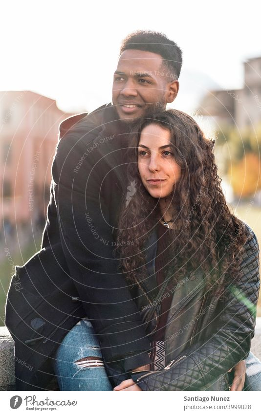 Macht Liebe Paar Schwarzes Ein Schwarzer