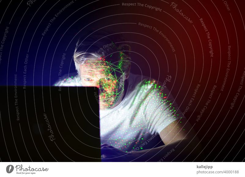 face-id computervirus Virus malesoftware Infektionsgefahr Gesundheit Corona-Virus Pandemie Seuche Licht Computervirus Gesundheitswesen Hacker Hackerangriff