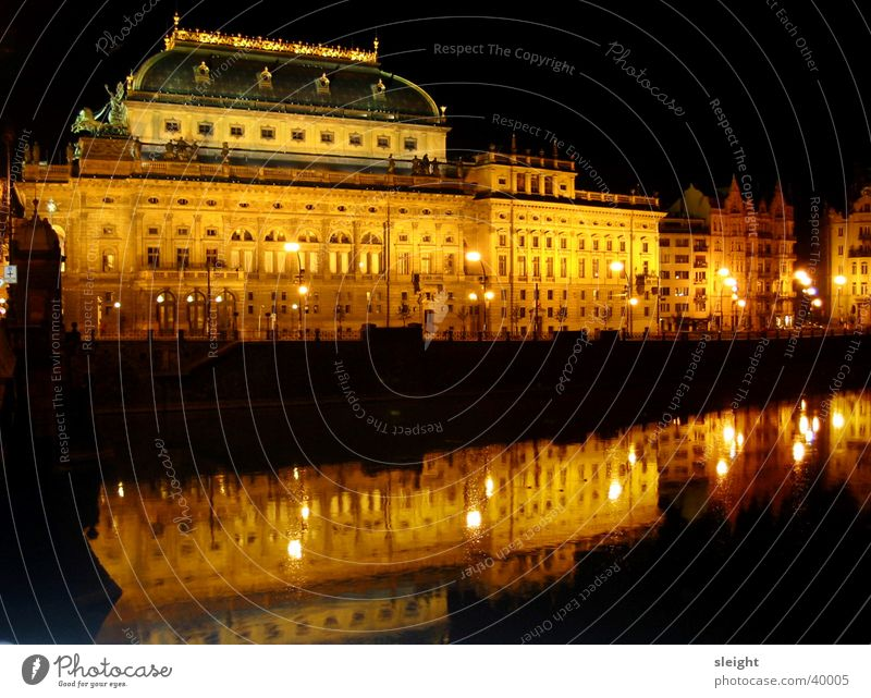 Nationaltheater Musik Gebäude Konzert Prag Moldau