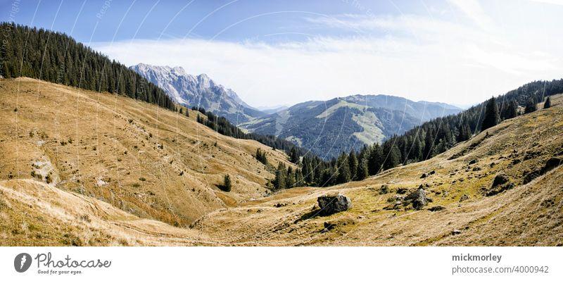 Wanderlust wandern Landschaft Panorama (Aussicht) Frischluft Berge u. Gebirge Menschenleer Wiese puristisch Fernweh reisen Salzburg Landschaftsformen Freiheit