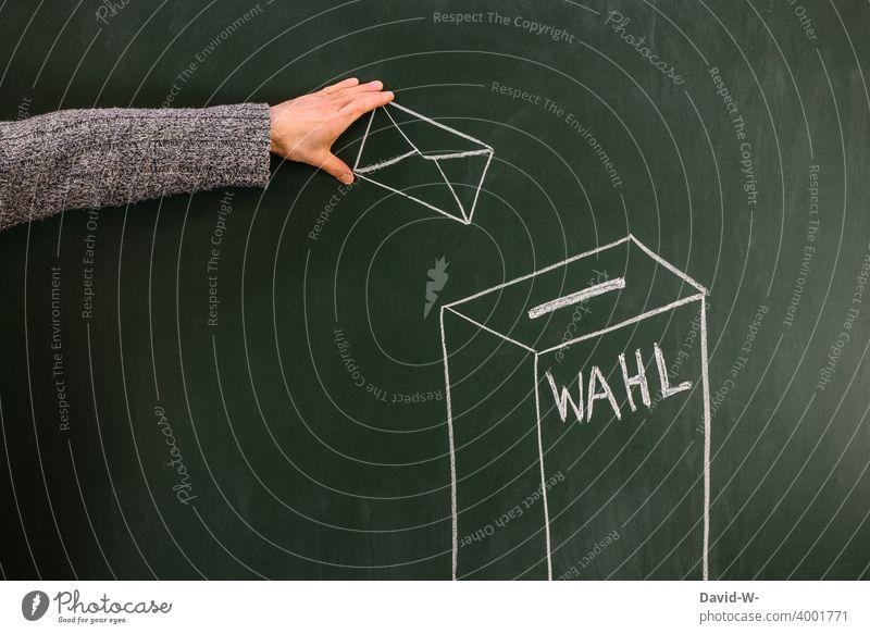wählen gehen wahl Briefwahl Bundestagswahlen wähler anonym Stimmzettel Wahlkampf Demokratie Entscheidung Wahlen wahltag Wahlbeteiligung Wahlbrief Mann