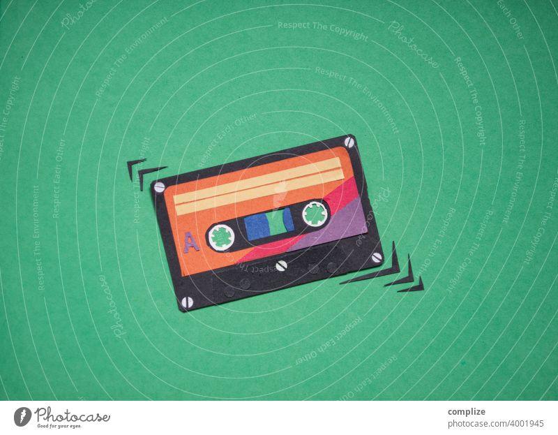Musik Tape Kassette Vintage achziger Club cassette taperecorder magnetband retro Neunziger Jahre Musikkassette Tonband Tonträger Konzert Popmusik orginale