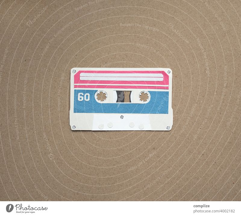 Musik Tape Kassette Vintage 80er achziger Club cassette taperecorder magnetband retro Neunziger Jahre Musikkassette Tonband Tonträger Konzert Popmusik orginale