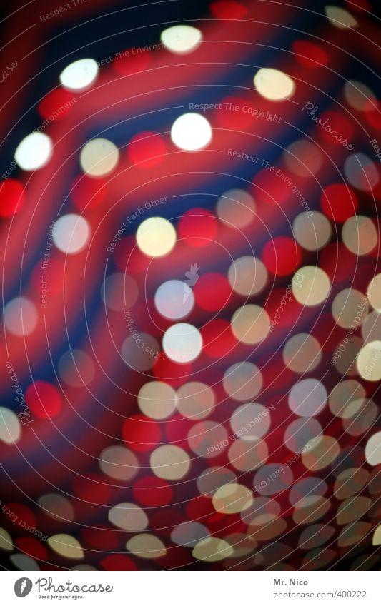 funkeln Lifestyle Freizeit & Hobby Innenarchitektur Nachtleben Veranstaltung clubbing Tanzen glänzend leuchten rund rot weiß Streifen Lichtpunkt