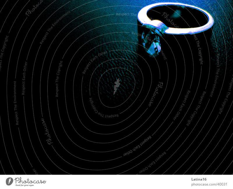 The Ring schwarz Stein Kreis Schmuck silber Diamant