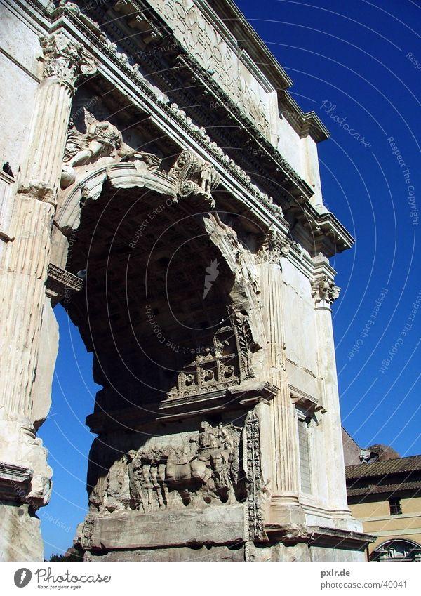 Foro Romano (Rom, Italien) Himmel blau Stadt Ferien & Urlaub & Reisen Sommer Architektur Stein groß Ausflug Tourismus ästhetisch Kultur Schönes Wetter Tor