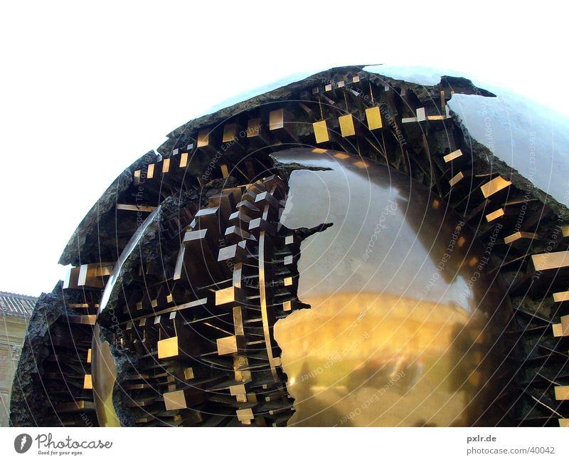 Interessante Kugel in den Vatikanischen Museen in Rom Metall Kunst gold Gold Design modern ästhetisch einzigartig Kultur außergewöhnlich Vatikan geheimnisvoll Italien Kugel Stahl Museum