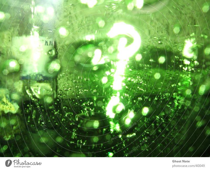 ?Green Question? Licht grün Stil Makroaufnahme Nahaufnahme Glas Reflektion