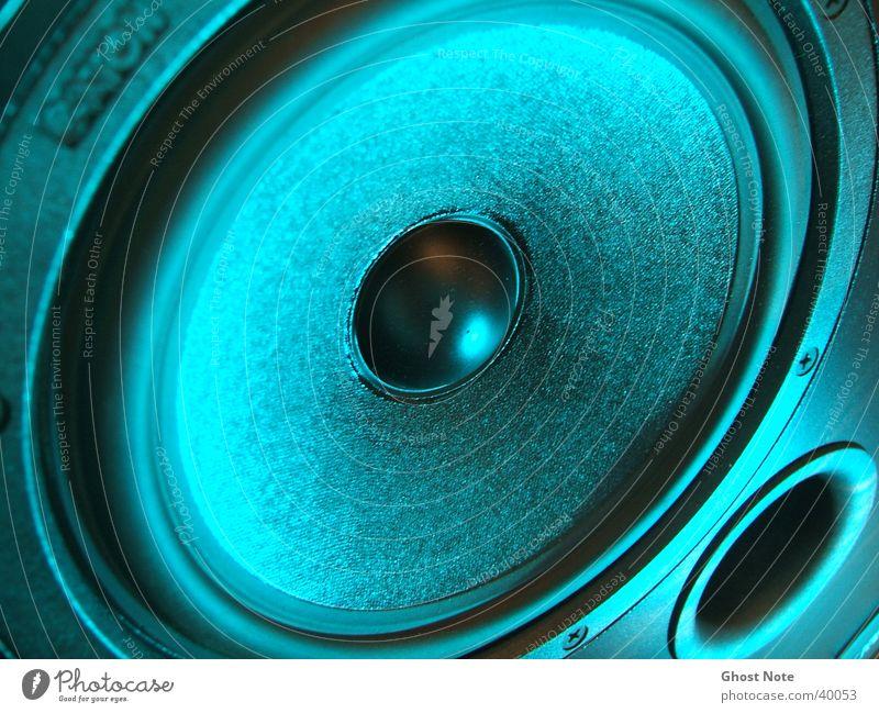 Wir brauchen Bass! Musik schwarz Takt Entertainment Lautsprecher Kontrabass blau