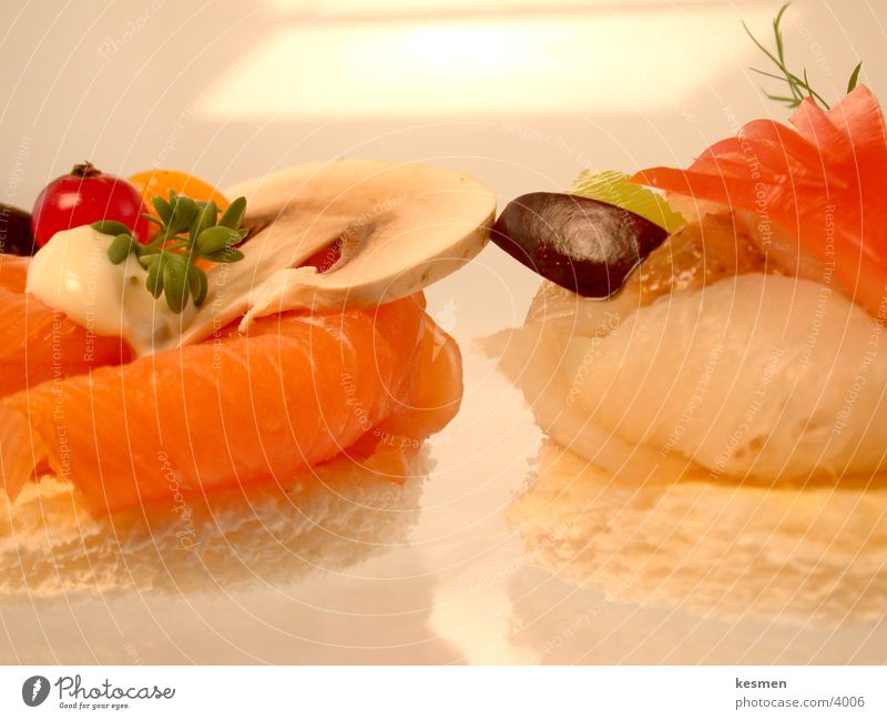 ++++++ GOURMET STOFF +++++++++ Ernährung Speise Käse Fisch Feinschmecker Fingerfood Lachs Gorgonzola Heilbutt