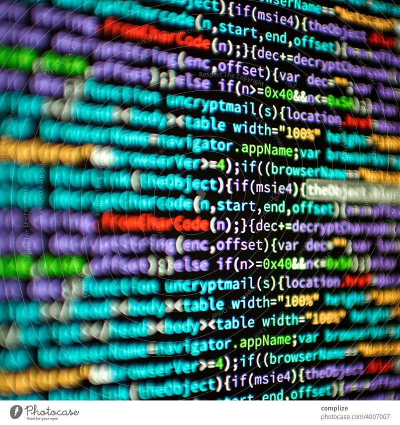 Computer Screen HTML-Code www Technologie html5 Website JavaScript computervirus Computerspiel Schrift bunt pearl Webdesign Programmiersprache coding Sprache