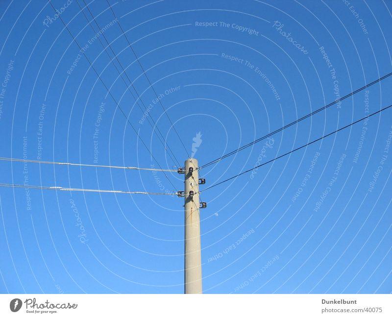 Energie Himmel Industrie Energiewirtschaft Elektrizität Strommast Leitung