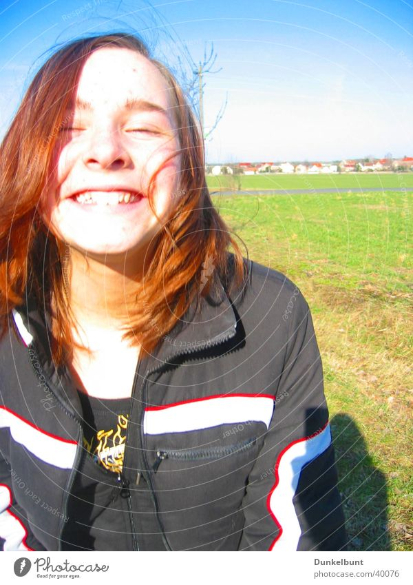 Frühling Frau Sonne Glück lachen