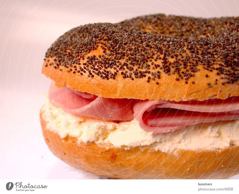 +++++ LECKER BAGEL ++++++ Ernährung Brötchen Frühstück Mahlzeit Käse Schinken Bagel Frischkäse