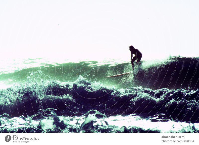 Summer Ferien & Urlaub & Reisen Tourismus Abenteuer Ferne Freiheit Sommer Sommerurlaub Sonne Strand Meer Insel Wellen Sport Wassersport 1 Mensch ästhetisch