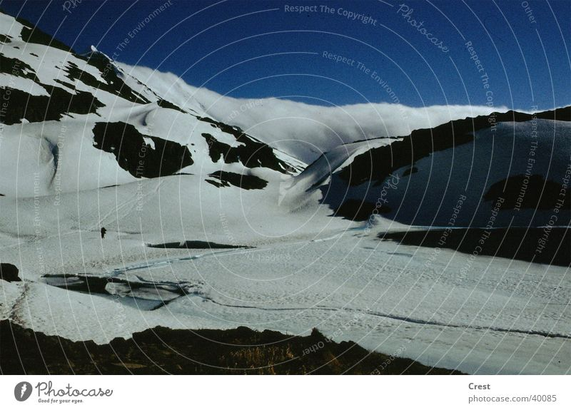 Gletscher ruhig Einsamkeit kalt Schnee Berge u. Gebirge Gletscher