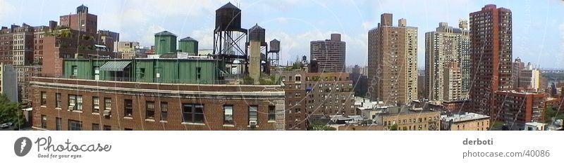 East Side Fernweh New York City Manhattan Upper East Side Distrikt Hochhaus Haus Weitwinkel Panorama (Aussicht) Nordamerika groß Panorama (Bildformat)