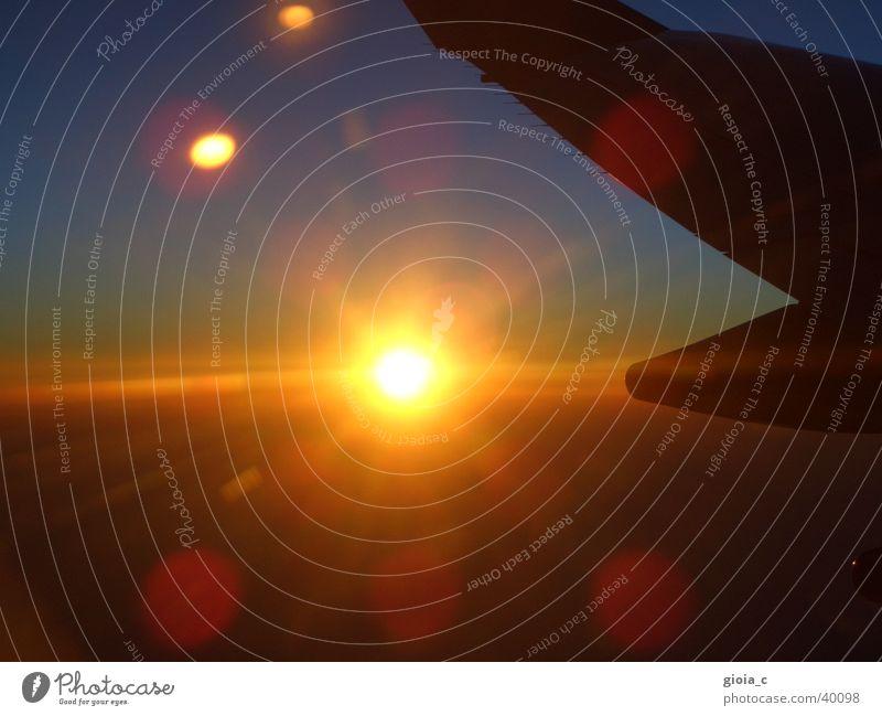 shine!!! Himmel Sonne Luft Flugzeug Wetter Erde Luftverkehr Flughafen obskur