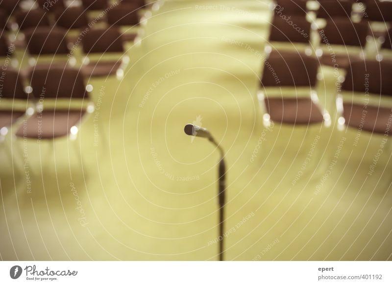 Generalprobe Ferne sprechen Erfolg stehen Perspektive leer Beginn Kommunizieren Show Kultur Stuhl hören Veranstaltung Gesellschaft (Soziologie) Sitzgelegenheit