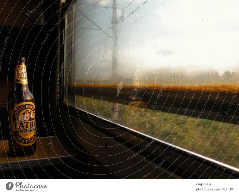 """polish beer """"tatra"""" Tatra Freizeit & Hobby window shadow zug train in travel"""