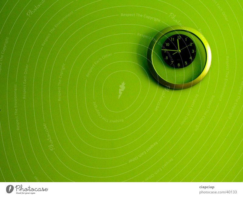 grün Uhr grün Wand Zeit Uhr Lidschatten