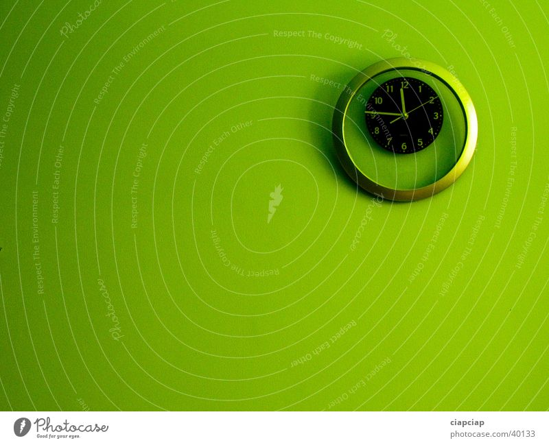 grün Uhr Wand Zeit Lidschatten