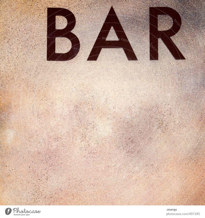 BAR Wand Stil Mauer Feste & Feiern authentisch Schriftzeichen einfach Gastronomie Bar Werbung Typographie Nachtleben ausgehen Cocktailbar