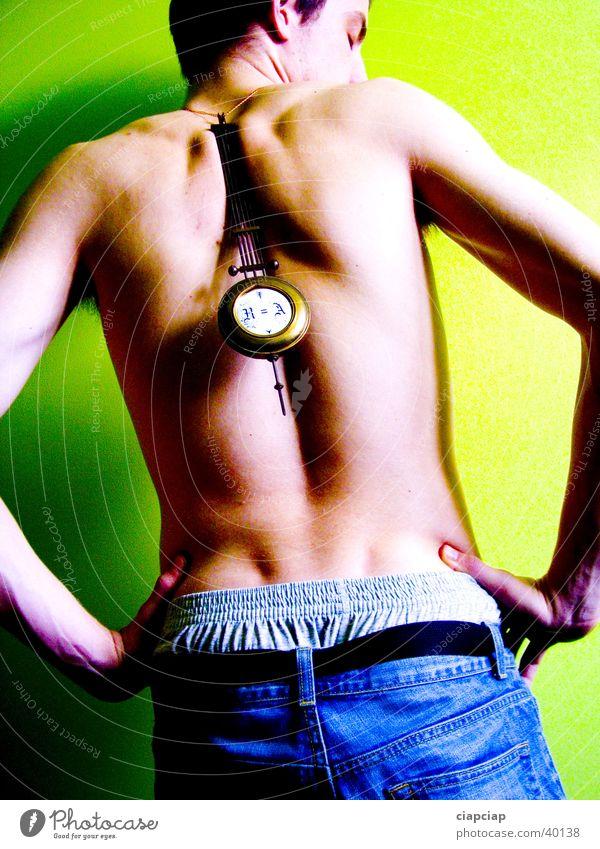 Akt Mann Körper Zeit Uhr Muster