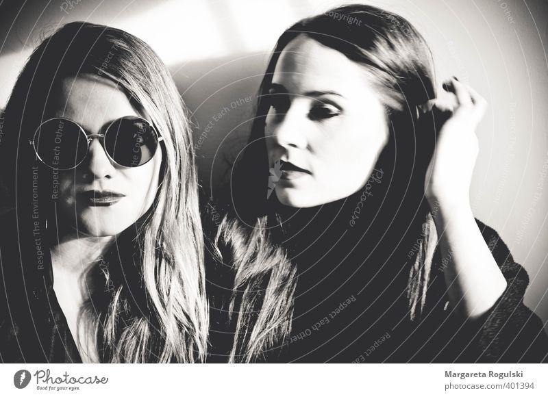 girls Junge Frau langhaarig Sonnenbrille