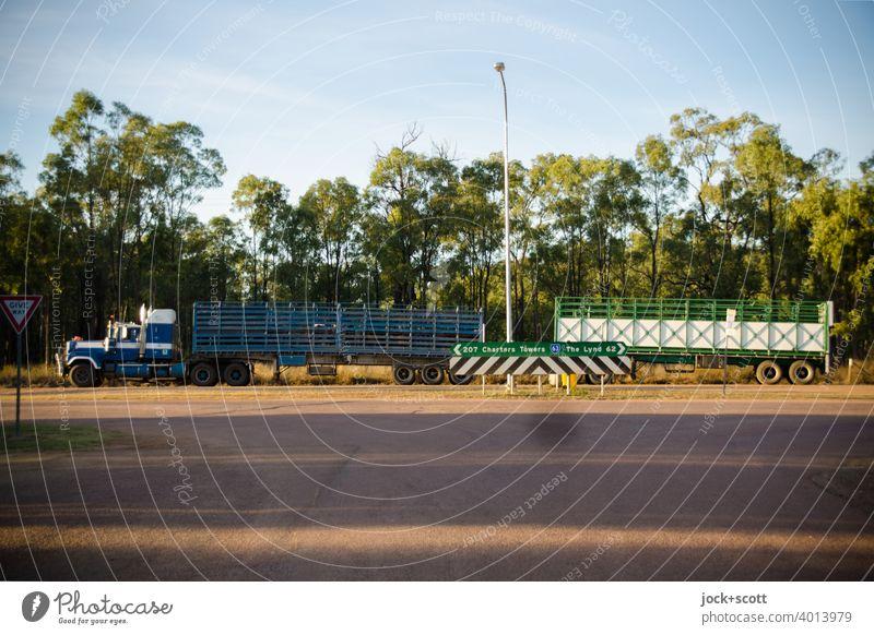 this is the way of trucking Güterverkehr & Logistik Lastwagen Verkehrsmittel Anhänger Australien Pause Transportfahrzeug trailer Truck Queensland