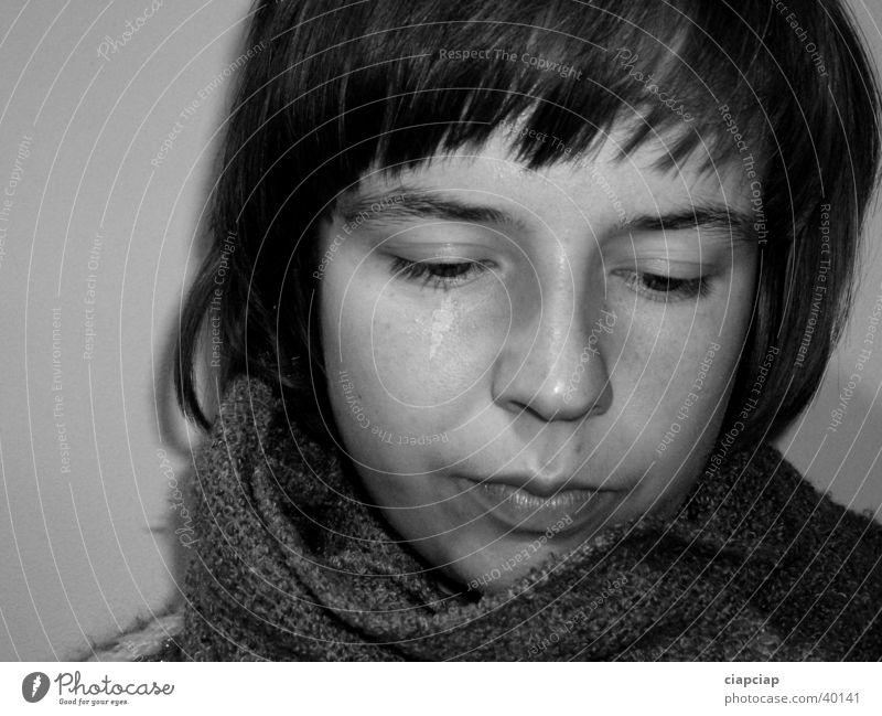 das Mädchen Frau Gesicht Schal