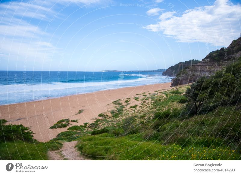 Australischer Strand Meereslandschaft Wasser Natur malerisch MEER im Freien Wahrzeichen Landschaft Felsen Sonnenlicht Ansicht winken Süden Sydney Wales Bucht