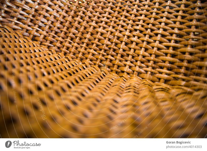 Nahaufnahme Detail des Korbstuhls Muster Design Material Detailaufnahme texturiert ineinander greifen Weide Oberfläche Stuhl Textur Hintergrund Rattan Holz