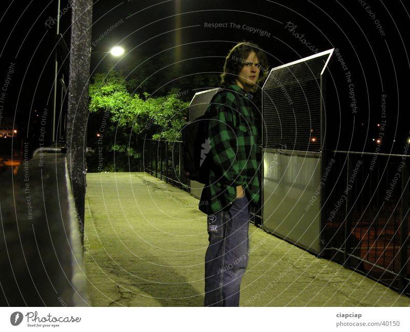Figur Nacht Fußgängerübergang Mann Mensch