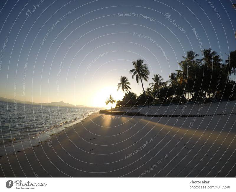 Sonnenaufgang auf der Trauminsel am Strand Insel Palmen Thailand Asien Meer Ferien & Urlaub & Reisen Farbfoto Küste Tourismus Natur Himmel Landschaft Wellen