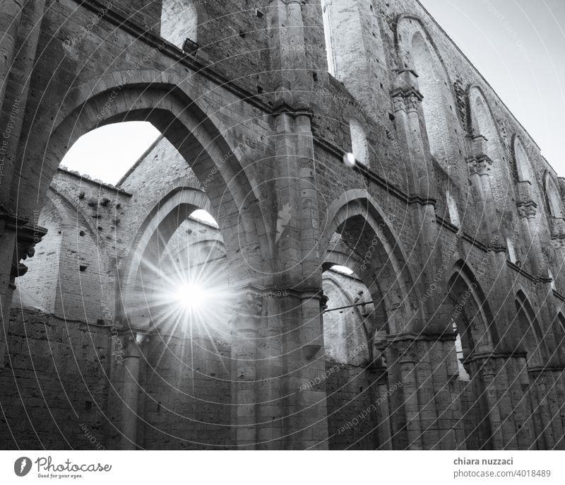 Bögen im Licht Abtei historisch Denkmal Architektur Tourismus Gebäude reisen Ferien & Urlaub & Reisen alt Wahrzeichen