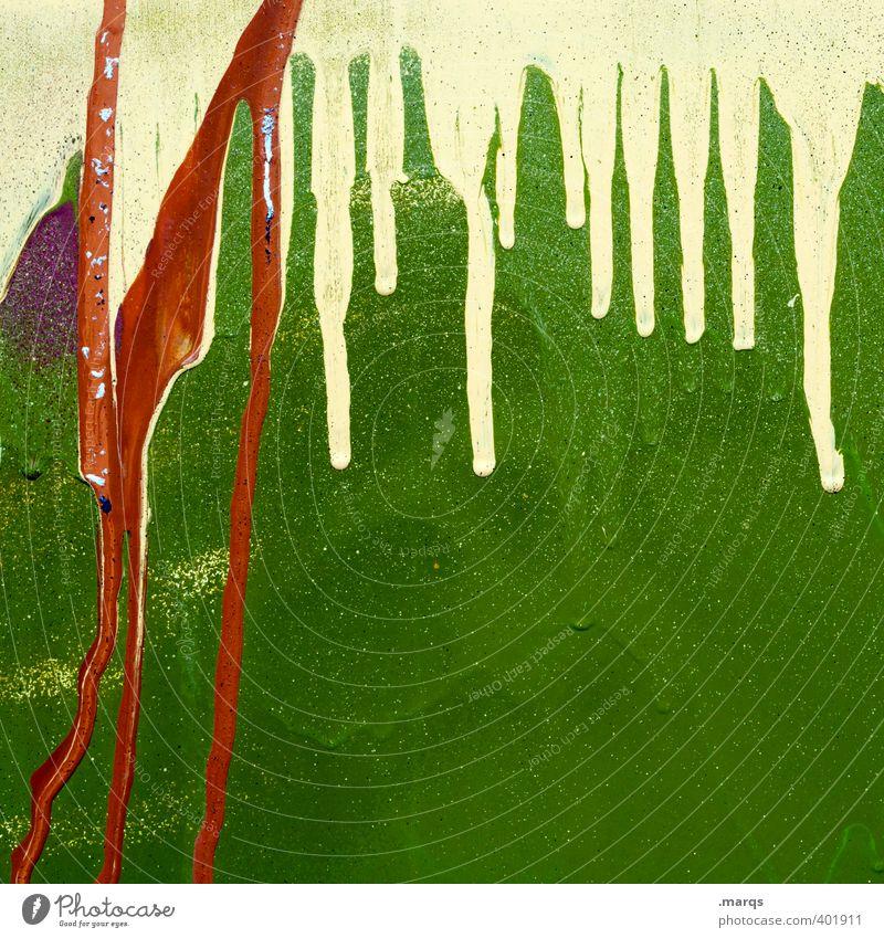 Ablauf Lifestyle Stil Design Mauer Wand Graffiti außergewöhnlich Coolness Flüssigkeit trendy einzigartig trashig gelb grün Farbe Farbstoff Hintergrundbild