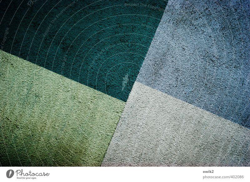 Zweites Quartal Kunst Kunstwerk Gemälde Mauer Wand Fassade eckig einfach groß blau grau grün schwarz Abstraktion Linie Teile u. Stücke Strukturen & Formen
