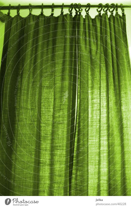 Vorhang auf...Vorhang zu... grün Farbe Innenarchitektur Stil Raum Design Bad Möbel Wohnzimmer Gardine