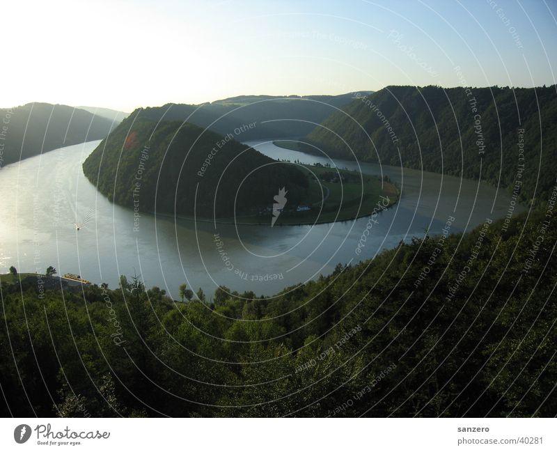 Schlögener Schlinge Natur Wasser groß Aussicht Österreich Donau