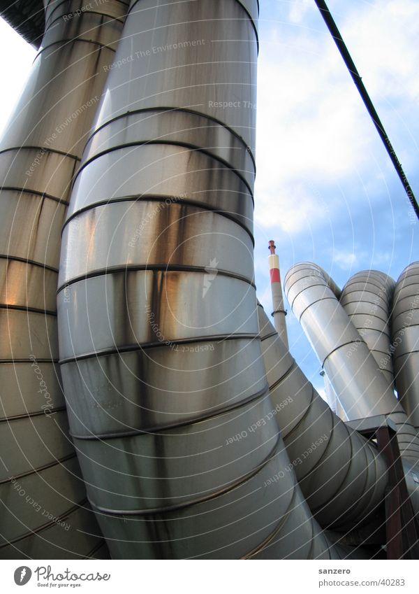 Rohre Metall Industrie Stahl Röhren