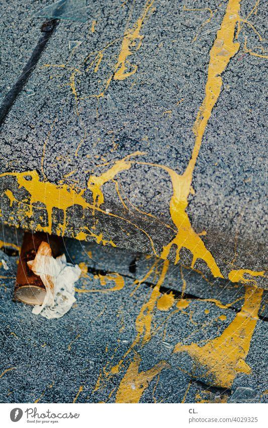 gelb Farbe abstrakt dreckig Müll Strukturen & Formen