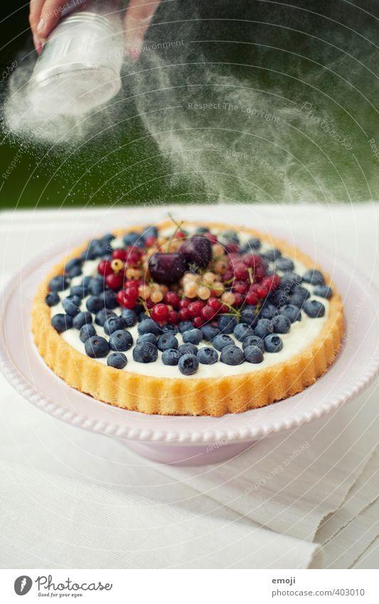 zuckriger Puder natürlich Frucht Ernährung süß Süßwaren lecker Beeren Picknick sommerlich Torte Dessert Saison Puderzucker