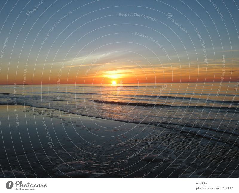 Sonnenuntergang Meer Rømø Strand Romantik Abenddämmerung Europa