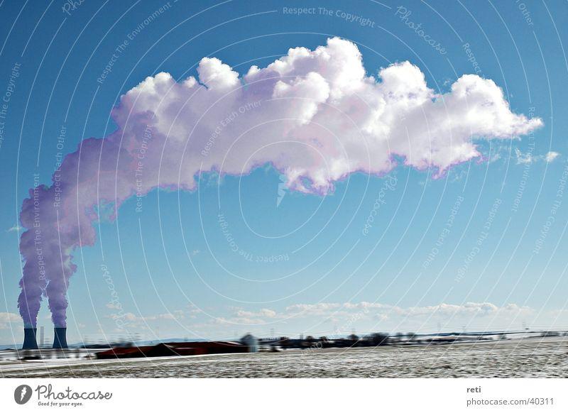 Kühltürme Wolken Nebel Technik & Technologie Rauch Kühlung Kernkraftwerk Elektrisches Gerät Kühlturm Rauchwolke